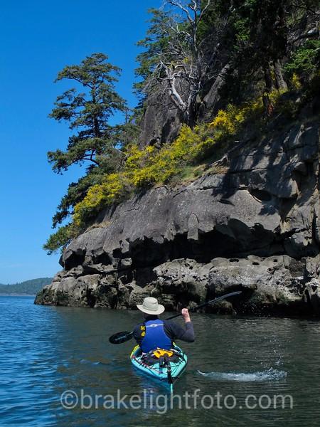 Kayaking along Saturna Island
