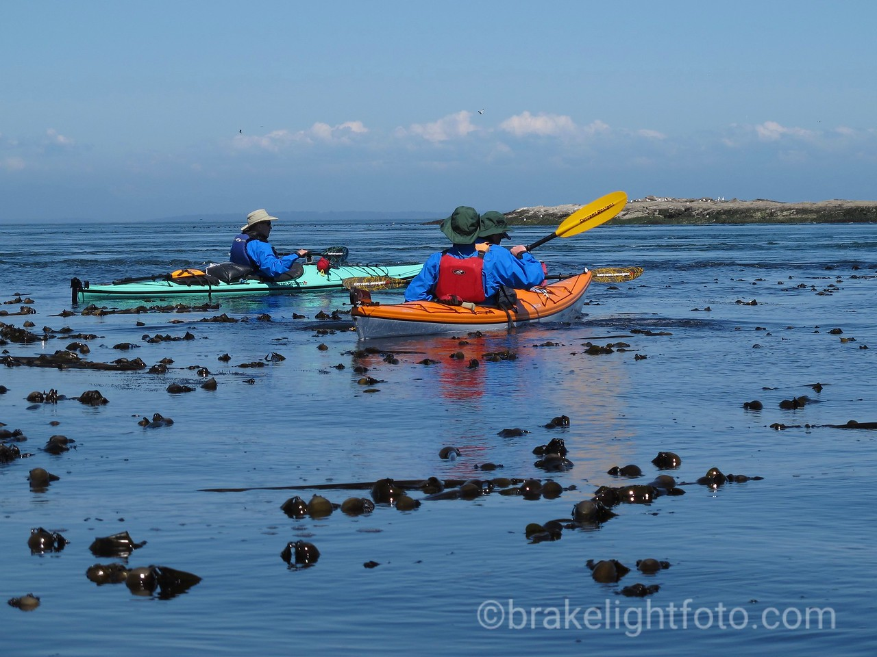 Kayakers off Boiling Reef at East Point