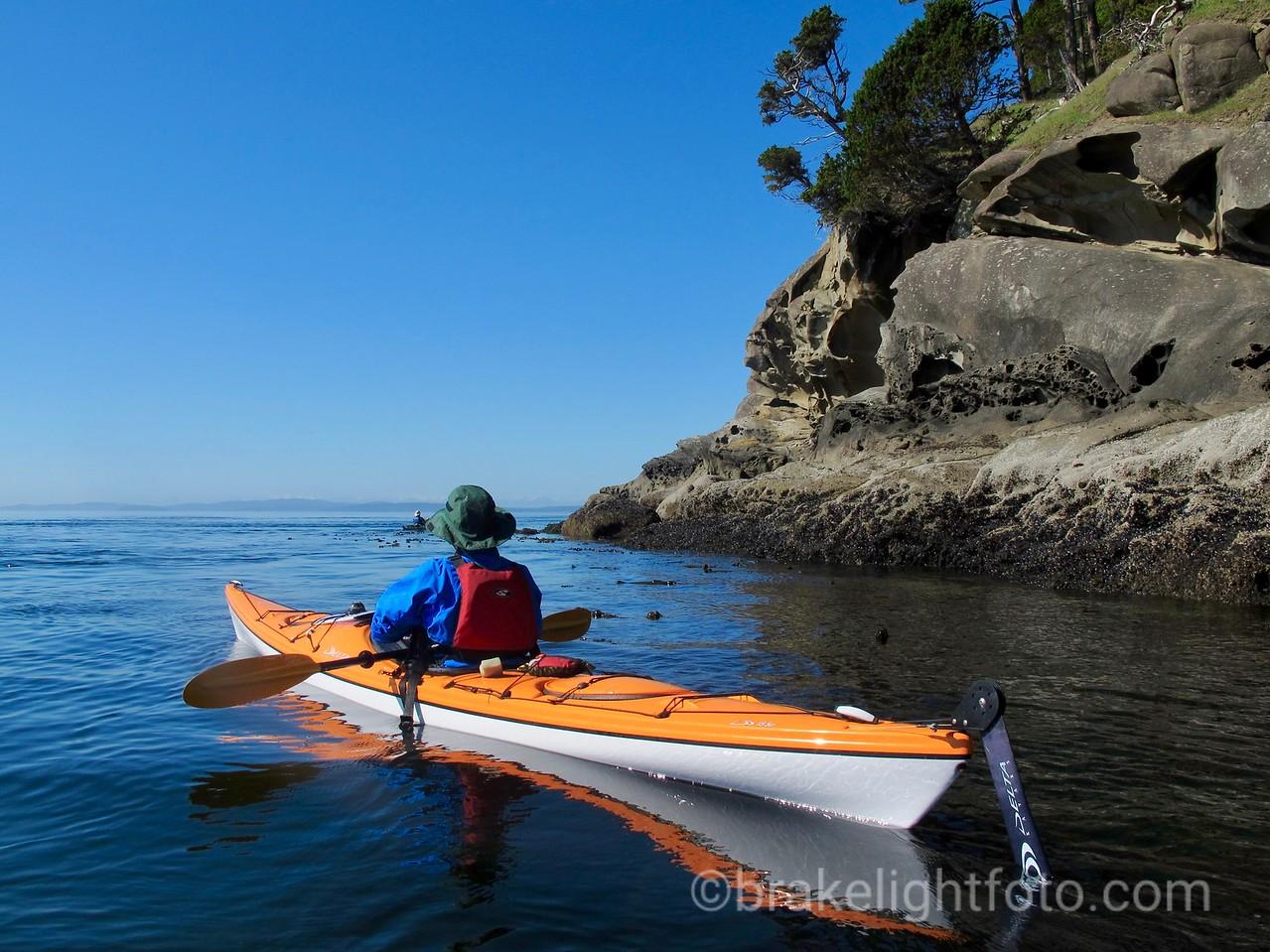 Kayaker off Monarch Head