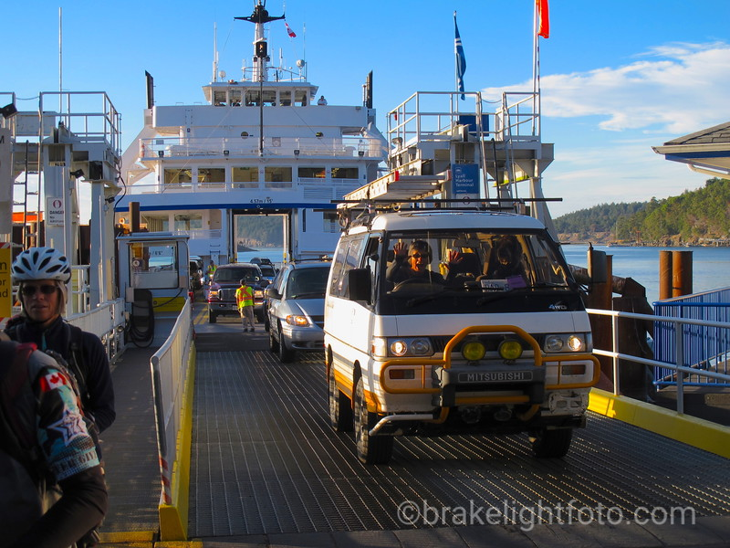 Driving off the Ferry