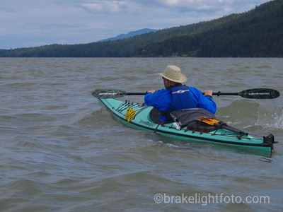 Kayaking along Saturna Island