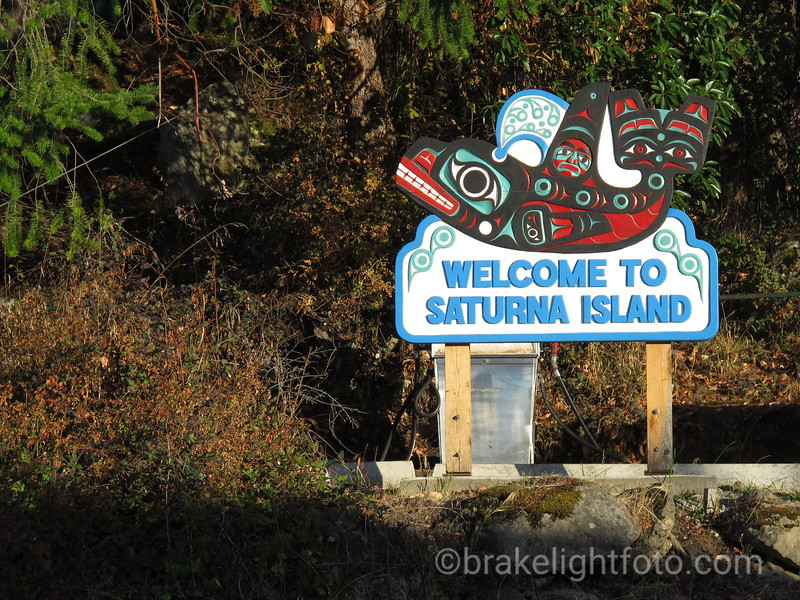 Saturna Island Welcome Sign