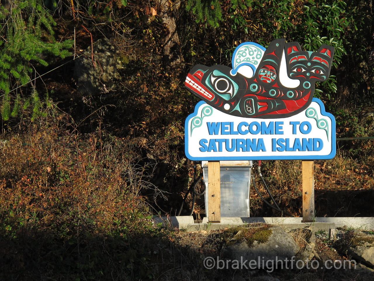 Saturna Island Welcome Sign