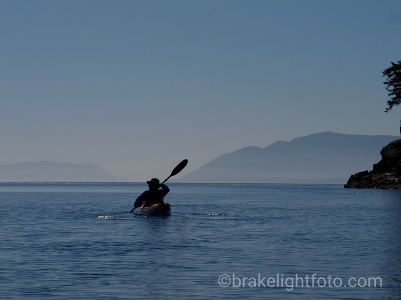 Kayaking off Narvaez Bay