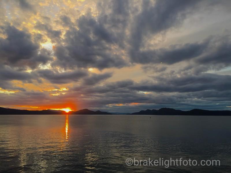Sunset across Plumper Sound