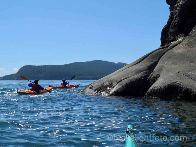 Kayakers off Saturna Island