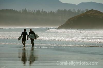 Surfers at Long Beach, Tofino
