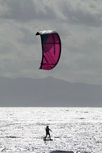 Hydrofoil Kiteboarding at Jordan River