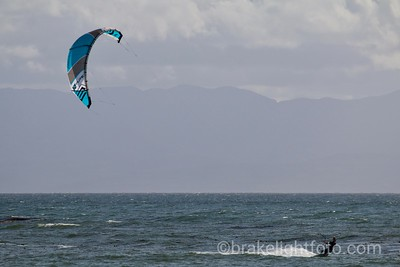 Kiteboarding at Jordan River