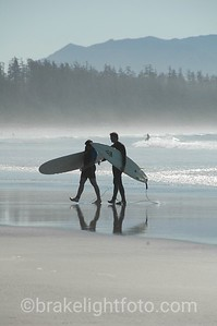 Surfers at Long Beach, Tofino, BC