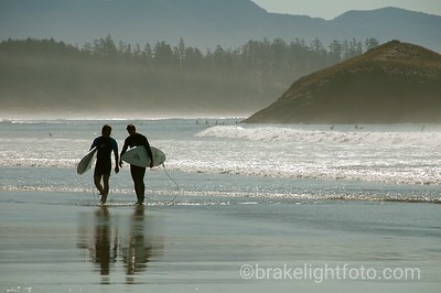 Surfers at Long Beach, Tofino