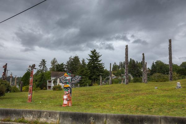 Namgis Burial Grounds - Alert Bay - Cormorant Island, British Columbia, Canada