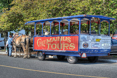 """Horse Drawn Carriage - Chemainus BC Canada Visit our blog """"Small Town Life"""" for the story behind the photos."""
