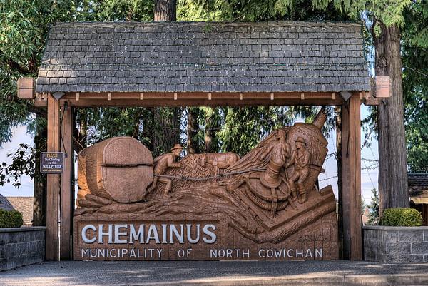 Park Sign - Chemainus BC Canada