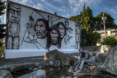 Chemainus Mural - Chemainus, Vancouver Island, British Columbia, Canada