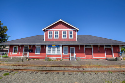 Courtenay Railway Station - Courtenay, Vancouver Island, British Columbia, Canada