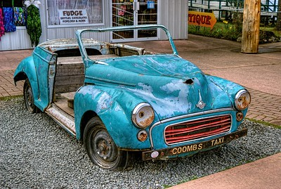 "Morris Minor - Coombs, BC - Vancouver Island, Canada Visit our blog ""Nothing That A Lick Of Paint Won't Fix"" for the story behind the photo."