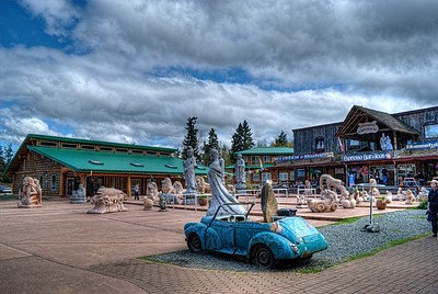 """Morris Minor - Coombs, BC - Vancouver Island, Canada Visit our blog """"Nothing That A Lick Of Paint Won't Fix"""" for the story behind the photo."""