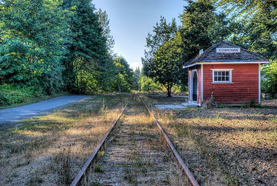 "Cowichan Station Railway Station - Cowichan Station BC Canada Visit our blog ""A Quick Stop At The Station"" for the story behind the photos."