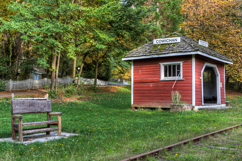 """Heritage Train Station - Cowichan Station, Cowichan Valley, Vancouver Island, BC, Canada Please visit our blog """"<a href=""""http://toadhollowphoto.com/2015/02/25/the-tiny-heritage-train-station/"""">The Tiny Train Station</a>"""" for the story behind the photo."""