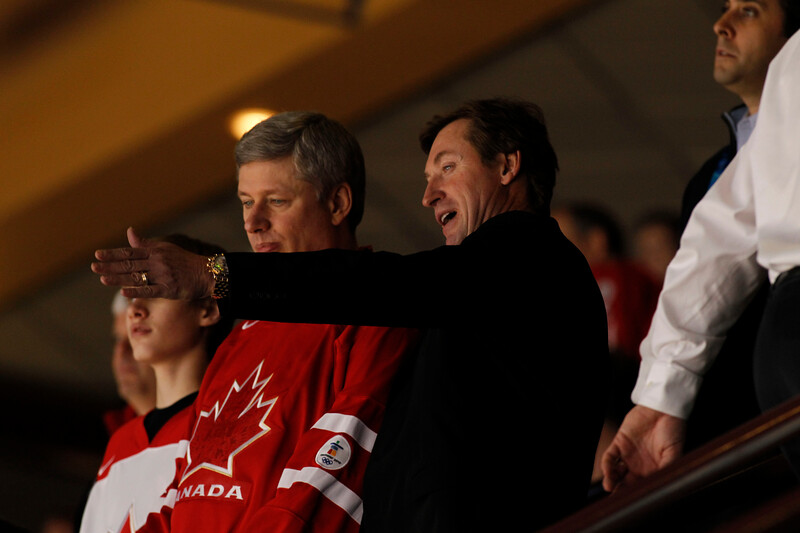 YVR0 20100228 VANCOUVER, BC, CANADA : Hockey legand Wayne Gretzky was on hand for Canada's victory over the USA in the men's gold medal ice hockey game at the Canada Hockey Place at the Vancouver 2010 Olympic Winter games in Vancouver, Canada on Sunday, 28 February, 2010.