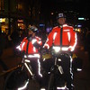 Paramedics standing by on bike on Robson street.