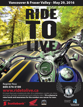 2016 Ride to Live poster