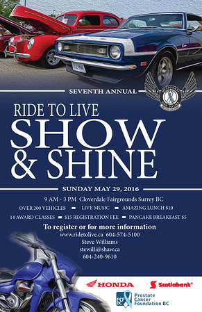 2016 Ride To Live Show & Shine poster