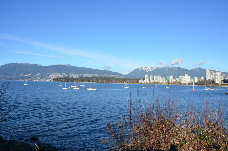 Vancouver view from Kits beach