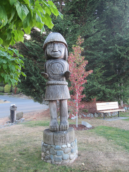 Sculpture by Cowichan Bay
