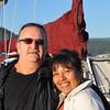 Two happy peeps, Cowichan Bay. Photo c/o Russ Diabo