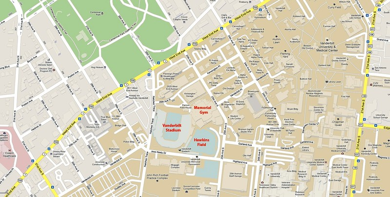 Vanderbilt University, Vanderbilt Stadium Pt.1 - Nashville ...