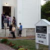 Mourners spill out of the packed church a vigil for Vanessa Marcotte on Tuesday evening. Worcester County District Attorney Joseph Early Jr. confirmed during a press conference on Monday that the body of missing jogger and former Leominster resident Marcotte, 27, had been found in Princeton and that her death is being investigated as a homicide. SENTINEL & ENTERPRISE / Ashley Green