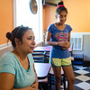 Nezeen Girgis, owner of Princeton House of Pizza, and 12-year-old daughter Sarah Michael talk about safety in the town after the August 7th murder of Vanessa Marcotte . SENTINEL & ENTERPRISE / Ashley Green