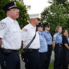 Princeton first responders line the walkway outside a vigil for Vanessa Marcotte on Tuesday evening. Worcester County District Attorney Joseph Early Jr. confirmed during a press conference on Monday that the body of missing jogger and former Leominster resident Marcotte, 27, had been found in Princeton and that her death is being investigated as a homicide. SENTINEL & ENTERPRISE / Ashley Green
