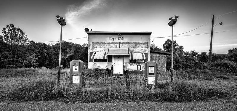 Abandoned Gas Station; Morgantown; West Virginia