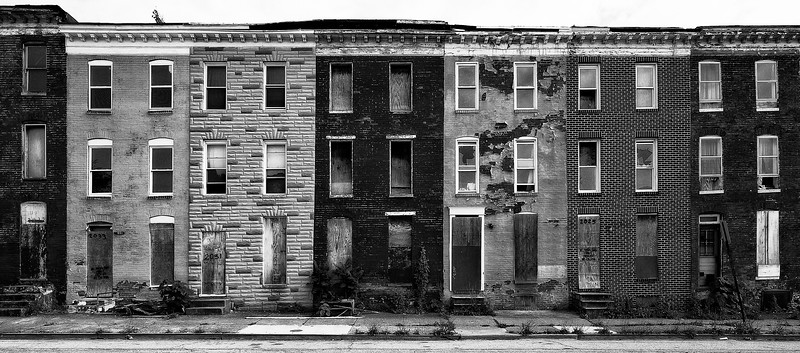 Abandoned Row Houses; Baltimore; Maryland; USA