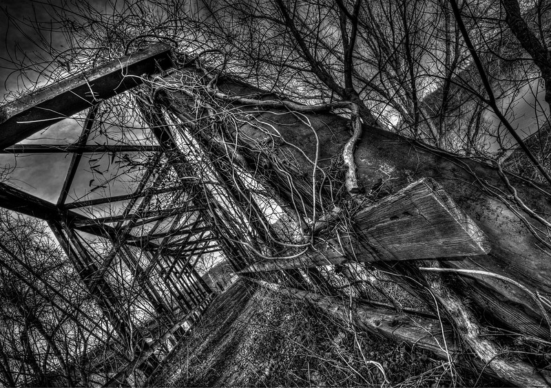 Abandonded Rail Bridge; Palmyra; Virginia; USA