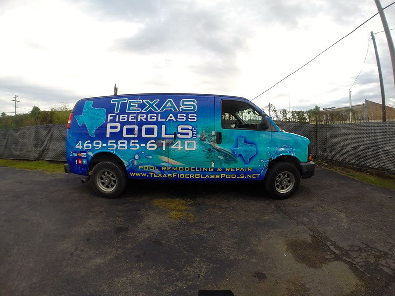 Texas Fiberglass Pools, cargo van, Dallas, TX