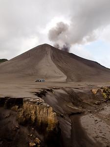 Mt Yasur from the ash plain