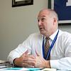 Leominster High School Principal Steve Dubzinski talks about vaping at LHS Tuesday, Oct. 1, 2019. SENTINEL & ENTERPRISE/JOHN LOVE