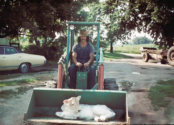 Me, River Ridge Farm, Ollie IA (August 1973)