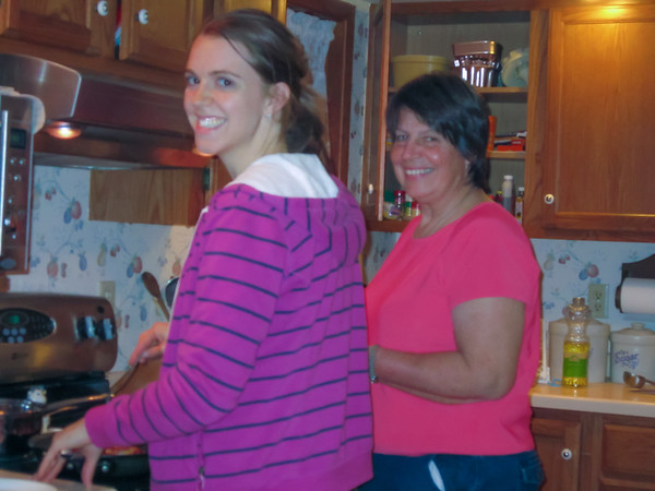 Elizabeth and Nancy Prepare A Meal, Waterville IA (November 2010)