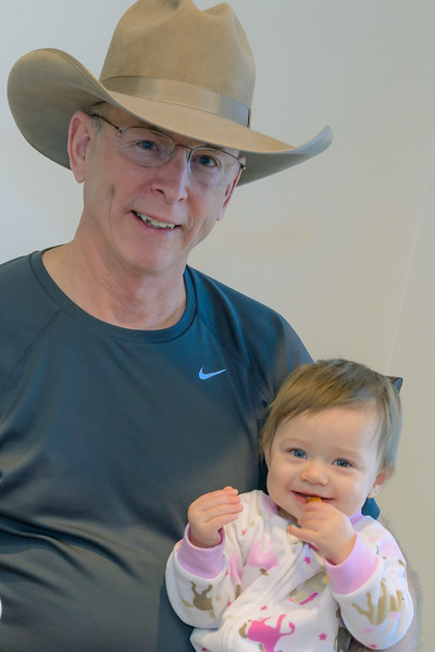 Coral Eating Toast With Grandpa,  Queen Creek AZ ( January 2014)