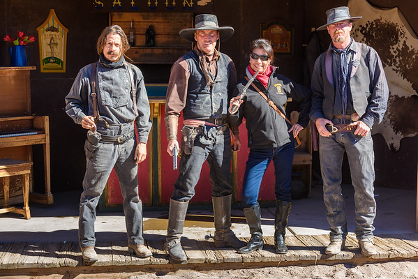 Beatrice at the Helldorado Gunfight Theatre, Tombstone AZ (17 Janaury 2015)