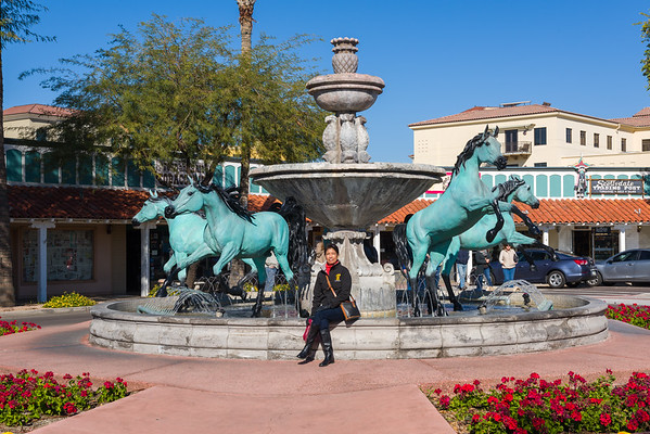 Bob Parks Horse Fountain, Scotsdale AZ (3 Januaray 2015