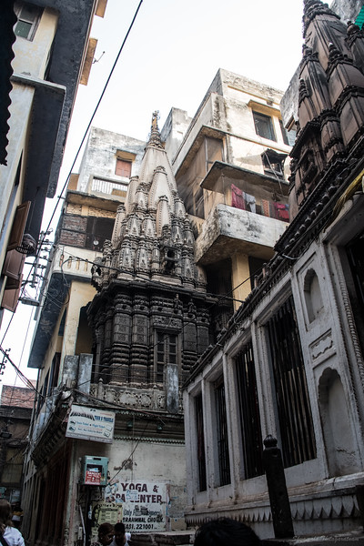 Discovering temples - when demolishing houses to clear a path between the Kashi Vishwanath temple and the Ganga Ghats, many beautiful 18th century temples were discovered, buried under brick and mortar of the homes on these narrow lanes.