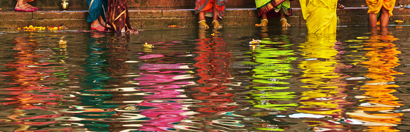 Reflections on the Ganges - Varanasi, India