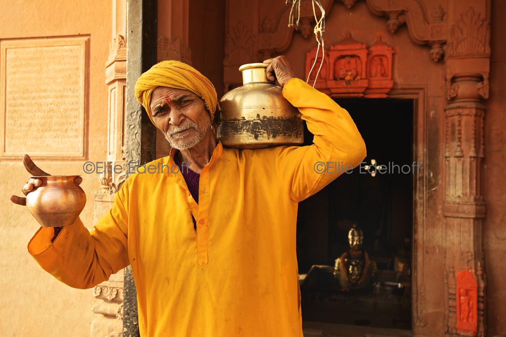Bearing Holy Water - Varanasi, India