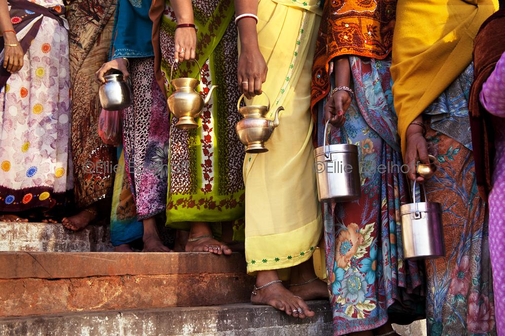 Waiting for Darsan - Varanasi, India
